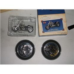 Harley Davidson Coasters & Keepsake Ornament