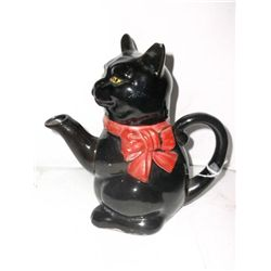 Vintage Black Cat Tea Pot