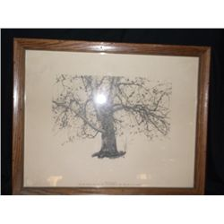 """Print New Leaves 1941 Collection of Mr. & Mrs. W. E. Phelps Aprox. 18"""" x 15"""""""