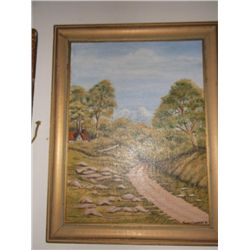 """Oil on Board Signed Tronnie Commens Aprox 19"""" x 15"""""""