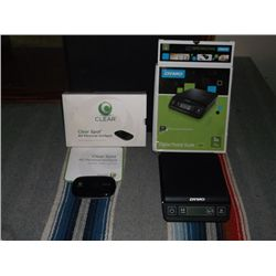 Dymo Postal Scale & Clear Spot 3G Hotspot Both with Boxes