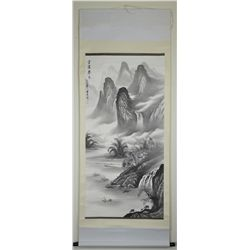 Chinese Watercolour Painting Hanging Scroll