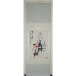 Fan Zeng Chinese Watercolour Painting Scroll