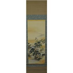 Wang Gum Chinese Qing Period Watercolour on Silk