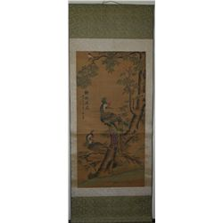 19th/20th C. Chinese Watercolour Painting Scroll