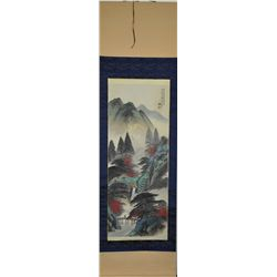 Li Xiong Cai Watercolour Painting on Silk Scroll