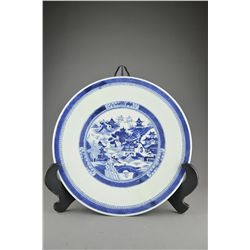 Chinese Export Blue & White Porcelain Charger