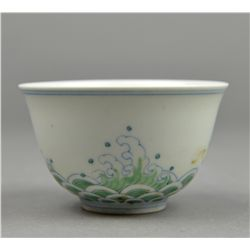 Chinese Doucai Porcelain Cup Ming Chenghua