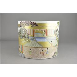 Chinese Republic Famille Rose Porcelain Brush Pot