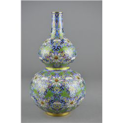 Chinese Bronze Cloisonne Double Gourd Vase