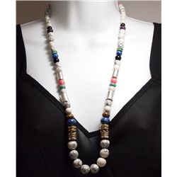 Navajo Howlite & Multi-Stone Necklace - Tommy Singer