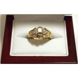 Dead Pawn Non-Native Diamond 14k Gold Women's Ring - FD