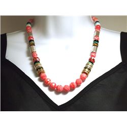 Navajo Rhodochrosite & Multi-Stone Necklace - Tommy Singer