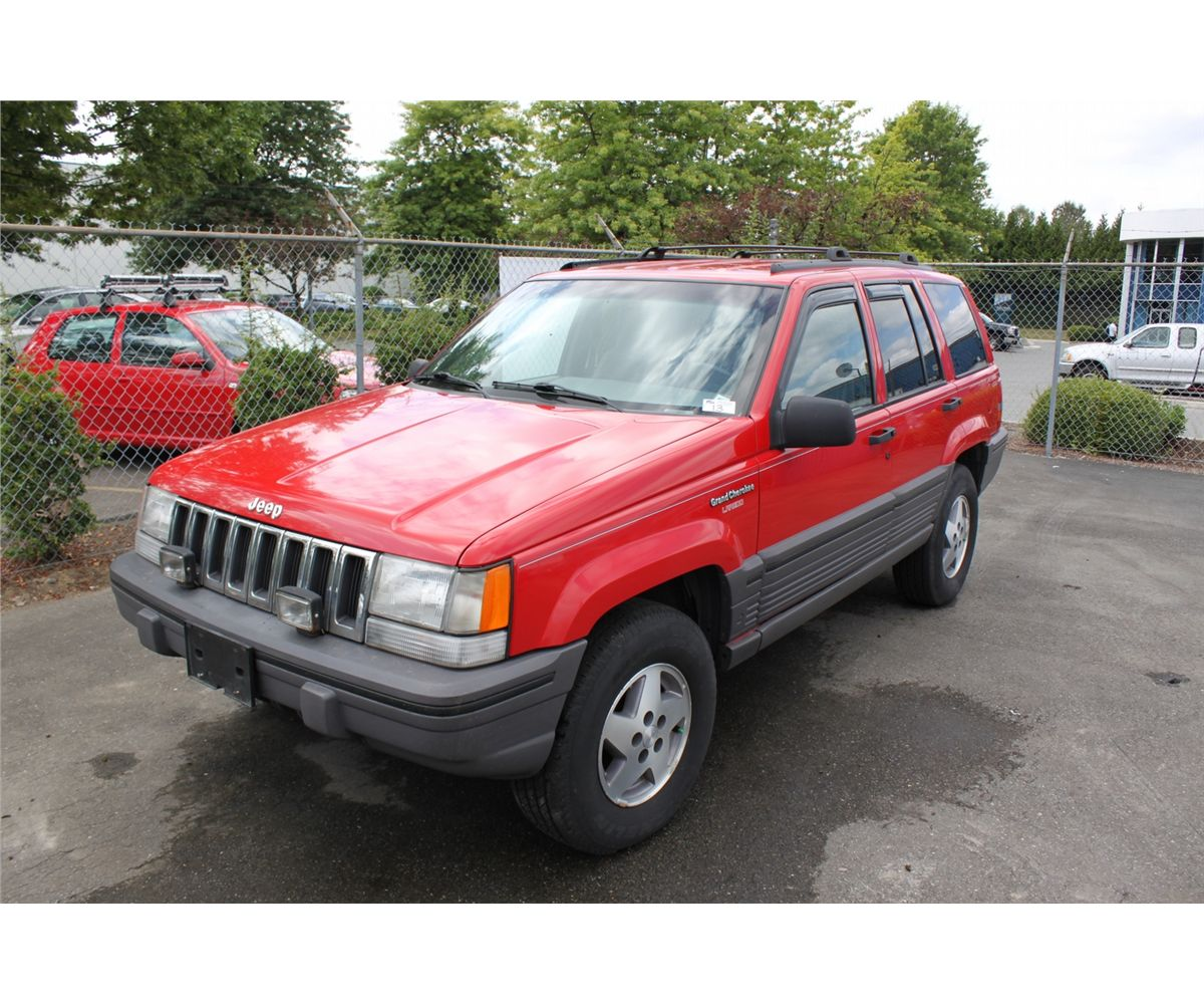 1993 red jeep grand cherokee laredo 4dr suv able auctions. Black Bedroom Furniture Sets. Home Design Ideas