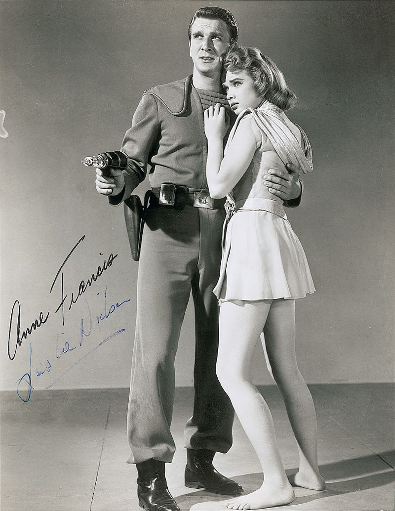 Leslie Nielsen And Anne Francis