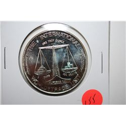 "The Int'l World Trade Unit Silver Round ""Paradise Valley Hospital""; .999 Fine Silver 1 Oz.; EST. $30"