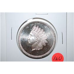 "Silver Round ""Indian Head""; .999 Fine Silver 1 Oz.; EST. $30-40"