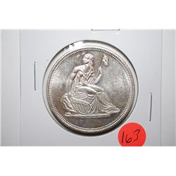 "Silver Round ""Seated Liberty""; .999 Fine Silver 1 Oz.; EST. $30-40"