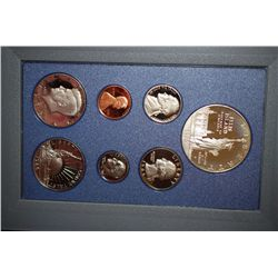1986-S US Mint Prestige Proof Set With Commemorative Ellis Island $1 & Commemorative Nation Of Immig