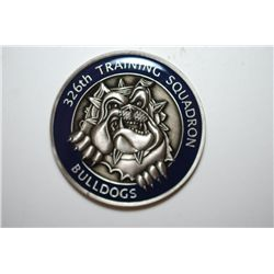 Lackland AFB TX 326th Training Squadron Bulldogs Military Challenge Medal; Accuro Futurus; EST. $5-1