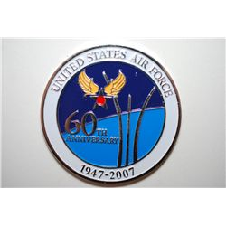 1947-2007 United States Air Force 60th Anniversary Military Challenge Medal; One Team One Mission; E