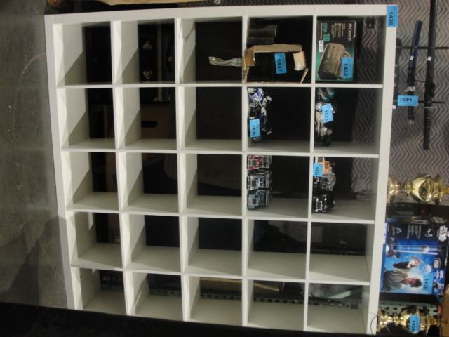 Large White Ikea Pigeon Hole Section Wall Unit Loading Zoom