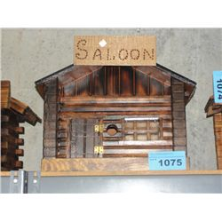 Hand crafted wooden Saloon building