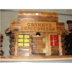 Hand crafted wooden Grannies home cooking building