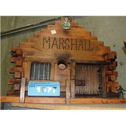Hand crafted wooden Marshalls building