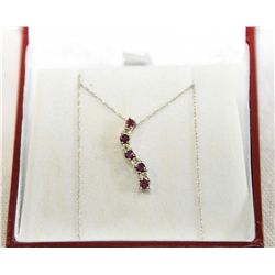 10Kt Gold Ruby & Diamond necklace