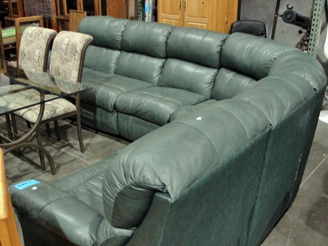 Flexsteel reclining green leather sectional. Loading zoom & Flexsteel reclining green leather sectional islam-shia.org