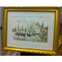 Paul Signac - Port de Flessinghe, Framed