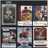 Lot of (10) Autographed Inserts With Baseball, Football, Basketball & Hockey