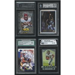Lot of (4) Graded Cards With Peyton Manning, Carmelo Anthony, Maurice Jones-Drew