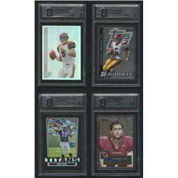 Lot of (4) Graded Cards With Reggie Bush, Carson Palmer, Matt Leinart, Vince Young