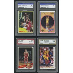Lot of (10) Graded Cards With Michael Jordan, Jerry West, Tim Duncan, Shaquille O'Neal