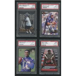 Lot of (10) Graded Football Cards With Steve Young, Randy Moss, Drew Bledsoe, Jamal Lewis