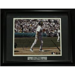 Eric Chavez Signed Athletics 11x14 Custom Framed Photo (PA LOA)