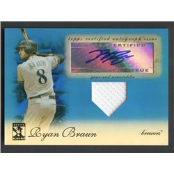 2009 Topps Tribute Autograph Relics Blue #RB1 Ryan Braun #24/75