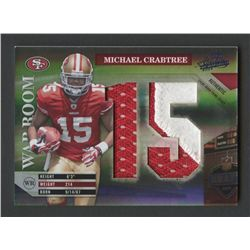 2009 Absolute Memorabilia War Room Materials Oversize Prime Patch #17 Michael Crabtree #17/25