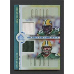 2005 Reflections Cut From the Same Cloth Blue #CCGF Ahman Green / Brett Favre