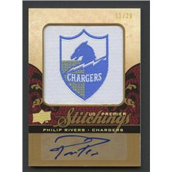2008 Upper Deck Premier Stitchings Autographs #PSPR Philip Rivers #11/20