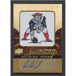 2008 Upper Deck Premier Stitchings Autographs #PSWW Wes Welker #11/20