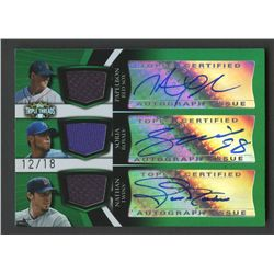 2009 Topps Triple Threads Relic Combo Autographs Emerald #20 Papelbon / Soria / Nathan #12/18