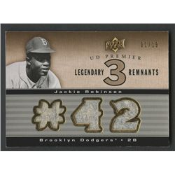 2008 Upper Deck Premier Legendary Remnants Triple Gold Milestones #JR Jackie Robinson #1/19