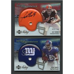 Lot of (2) 2007 Sweet Spot Autographs with Steve Smith & Joe Thomas (BV $60)