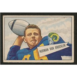 1952 Bowman Small #1 Norm Van Brocklin
