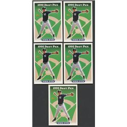Lot of (5) 1993 Topps #98 Derek Jeter RC (BV $100)