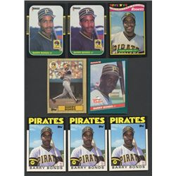 Lot of (8) Barry Bonds Rookie Cards with (3) 1986 Topps Traded #11T (BV $95)