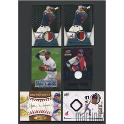 Lot of (6) Victor Martinez Cards with Autographs & Game-Used (BV $62+)